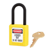 Masterlock Dielectric Zenex Safety Padlock Tall Nylon Shackle - Yellow