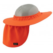 Ergodyne Chill Its Hard Hat Brim with Shade - Orange