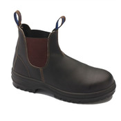 Blundstone Brown Full Grain Slip-On Safety Boot