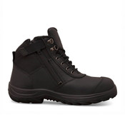 Oliver Zip-Sided Ankle Safety Boot - Black