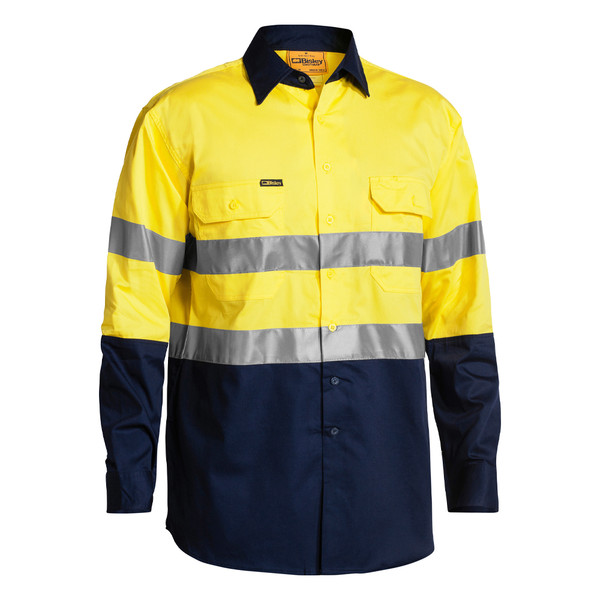 Bisley 3M Taped Two Tone Hi Vis Cool Lightweight Shirt