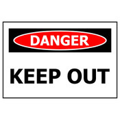 PVC Sign, Danger: Keep Out 450x300mm