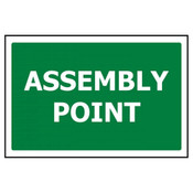 PVC Sign, Assembly Point (Text Only) 450x300mm